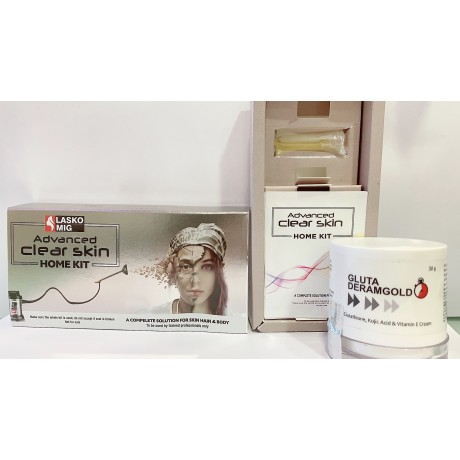 Advance White Kit + Gluta Dermagold (Advanced Clear Skin Kit) NEW